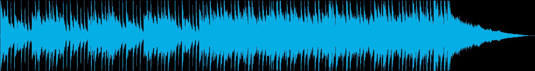 ピアノとエレキギターの明るい映像用BGMの再生済みの波形