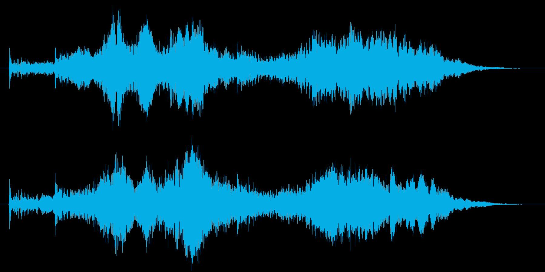 サウンドロゴ【不思議】ジングル魔法開封の再生済みの波形
