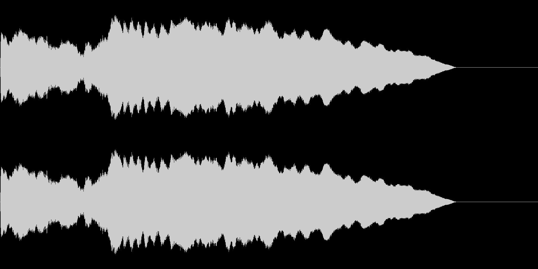 ピューン!1 降下音の未再生の波形