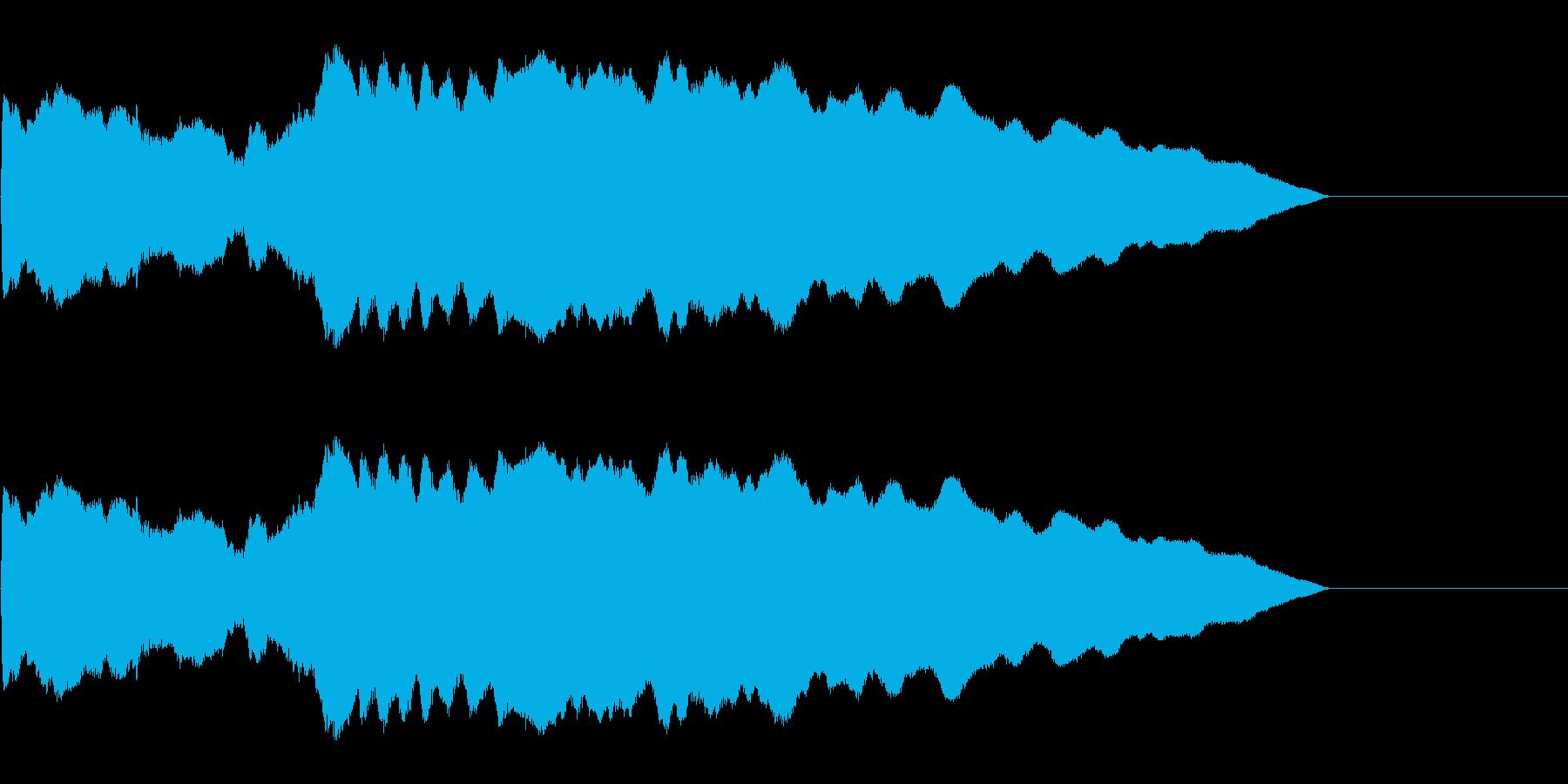ピューン!1 降下音の再生済みの波形