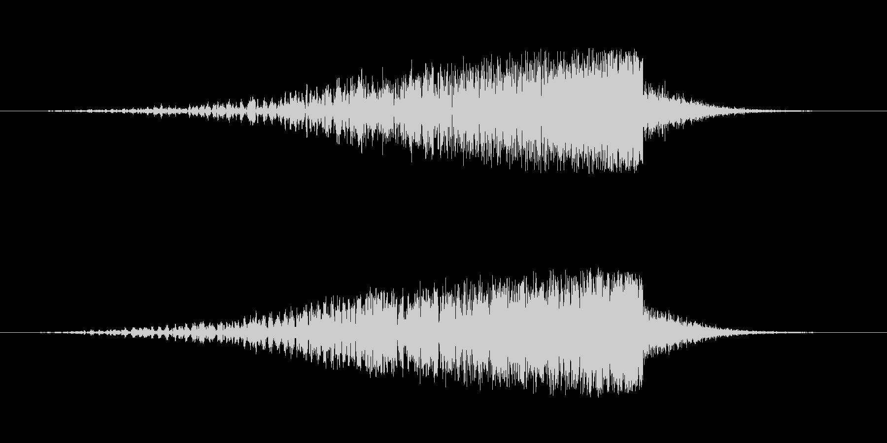 映画の効果音の未再生の波形