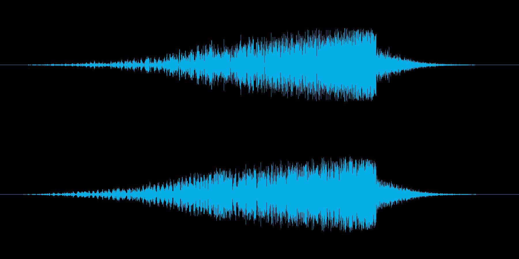 映画の効果音の再生済みの波形