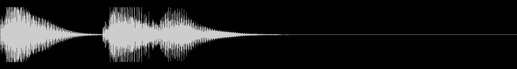 ファゴットののんきな効果音の未再生の波形