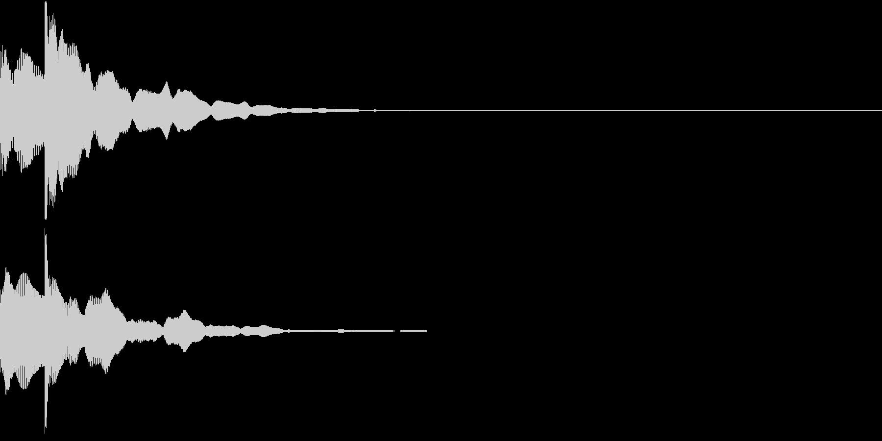 決定音13(ポカーン)の未再生の波形