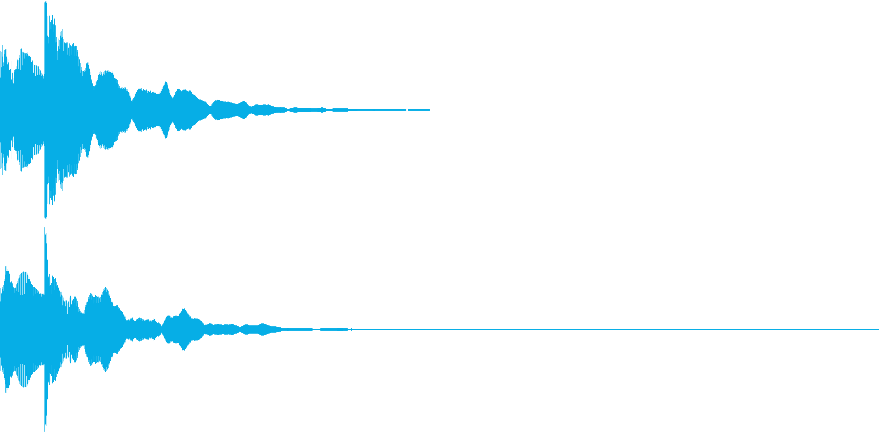 決定音13(ポカーン)の再生済みの波形