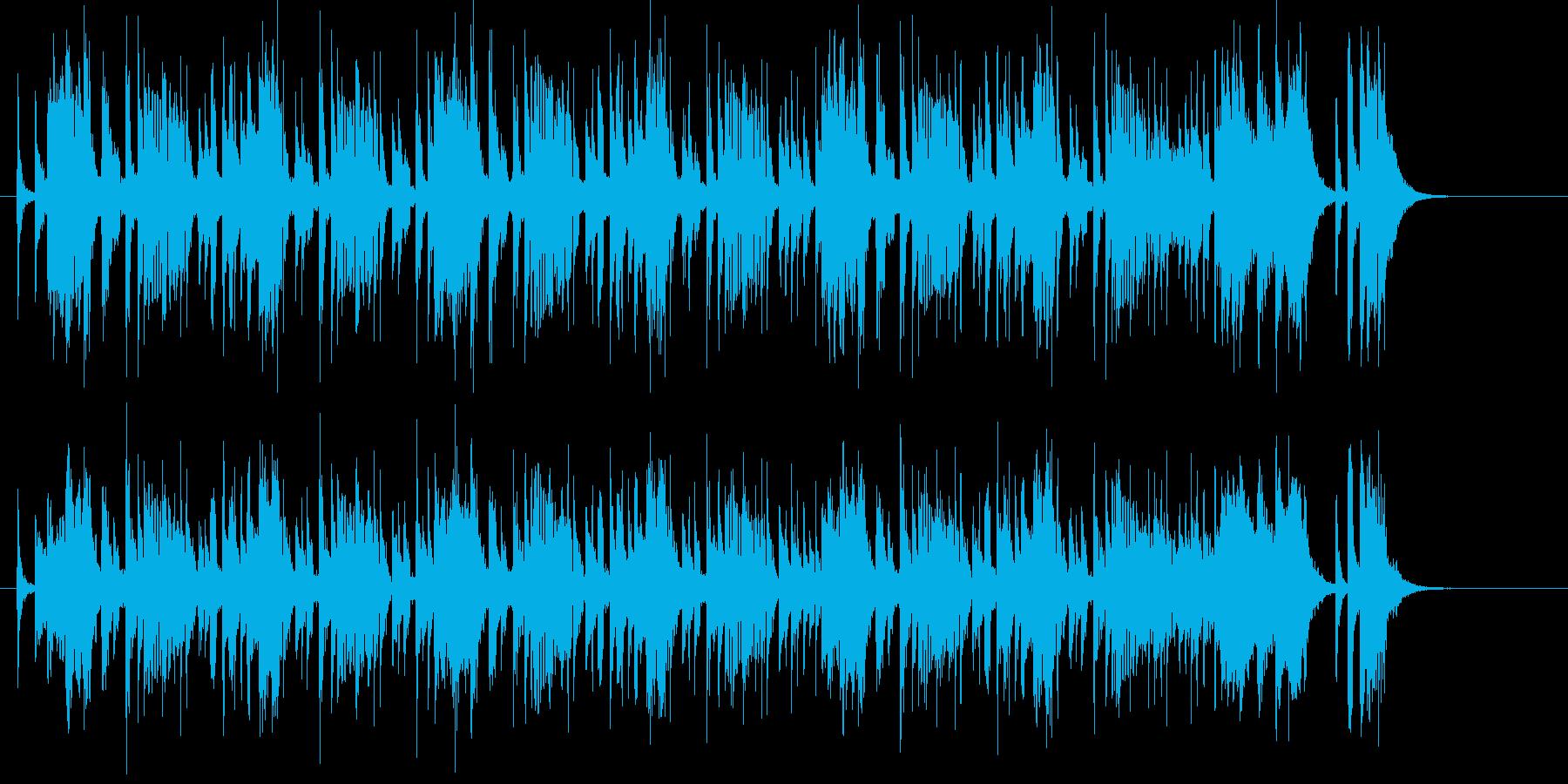 アップテンポでコミカルな音楽の再生済みの波形