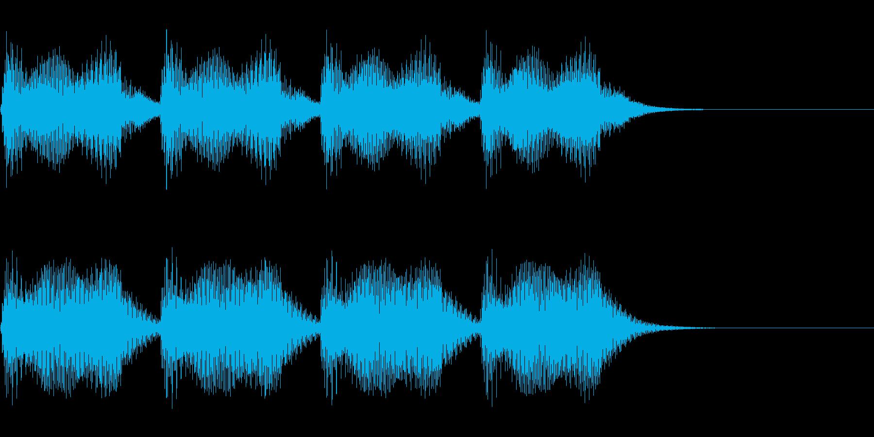 重厚な響きのエラー音・警告~恐怖感薄め~の再生済みの波形