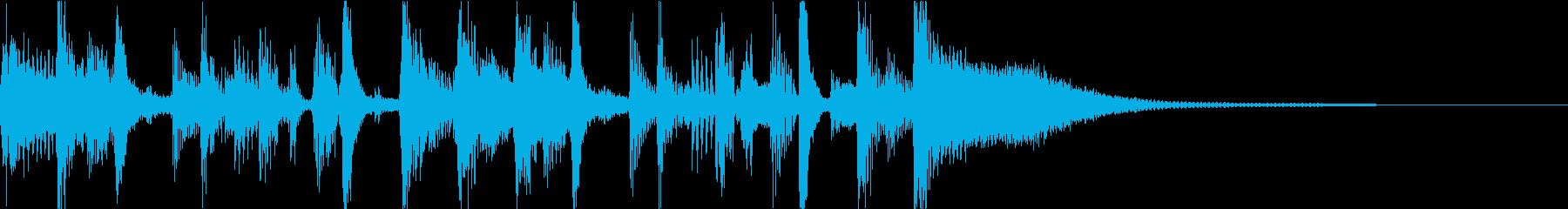 生演奏ギター ファンクジングルの再生済みの波形