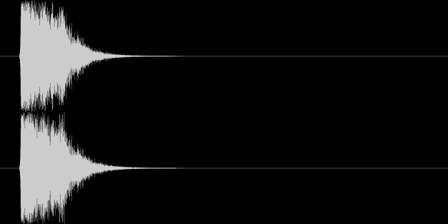 シンセ系攻撃SE(発射音)の未再生の波形