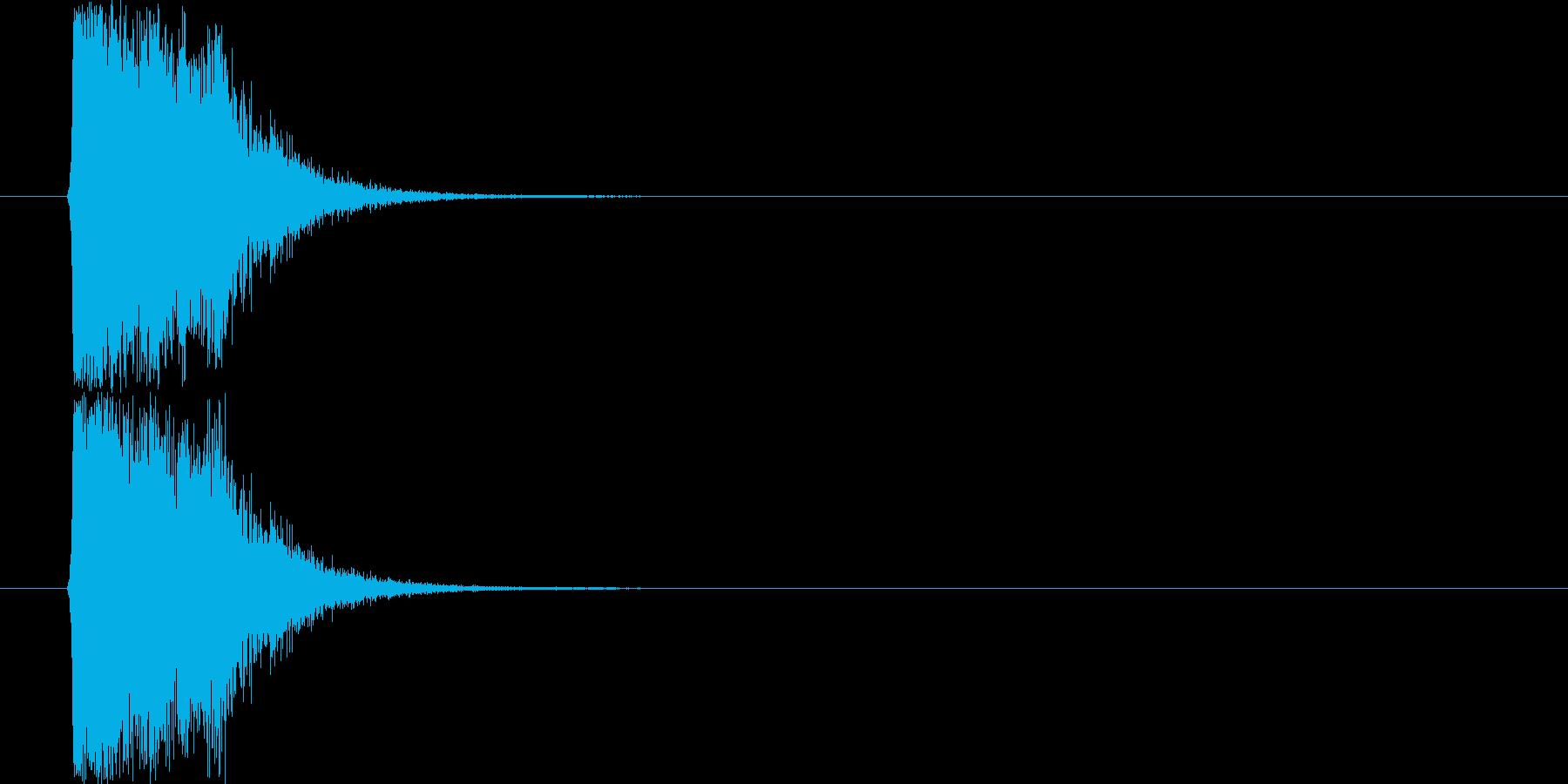 シンセ系攻撃SE(発射音)の再生済みの波形