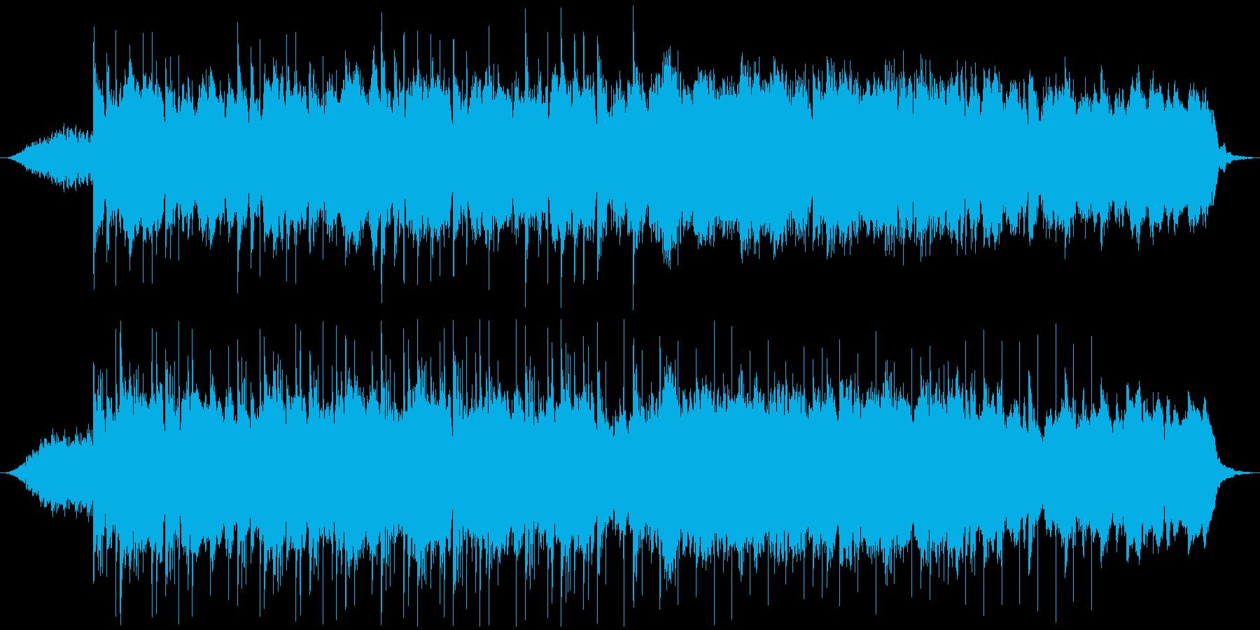 透明感のあるピアノヒーリングの再生済みの波形