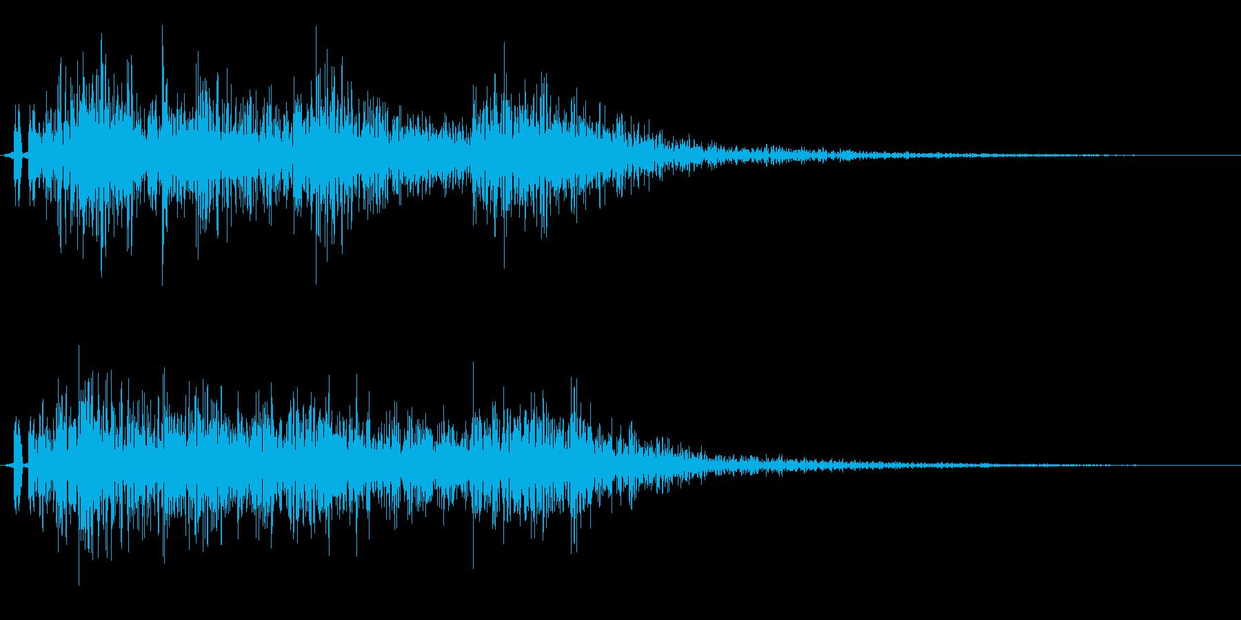 ドンパァ〜!本当にリアルな花火の効果音3の再生済みの波形
