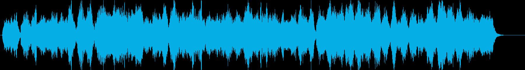 ストリングス主体の切ないオーケストラ楽曲の再生済みの波形