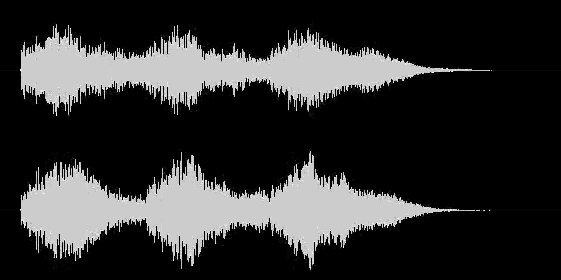 タラララララン(スローモーション、鍵盤)の未再生の波形
