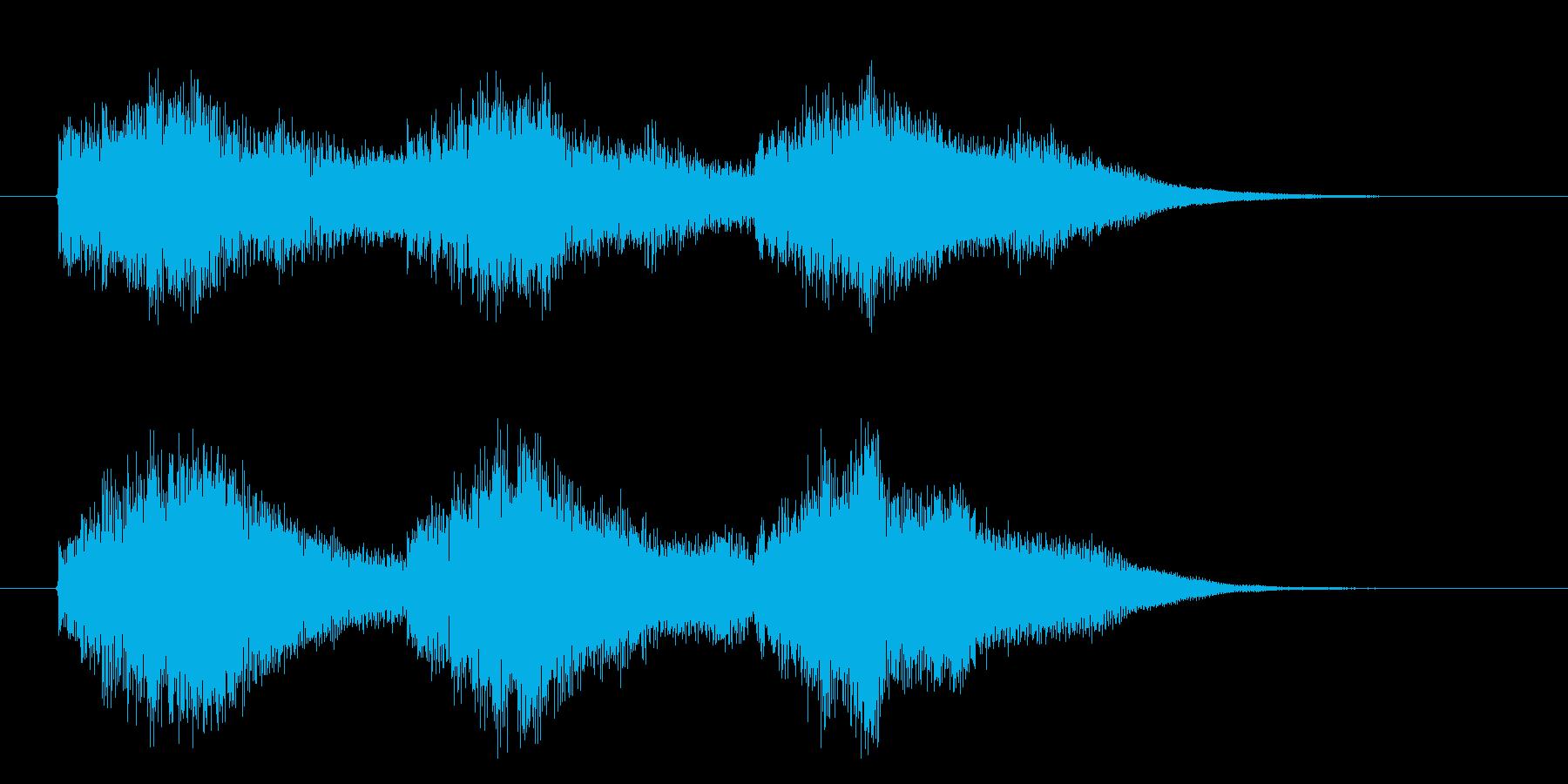 タラララララン(スローモーション、鍵盤)の再生済みの波形