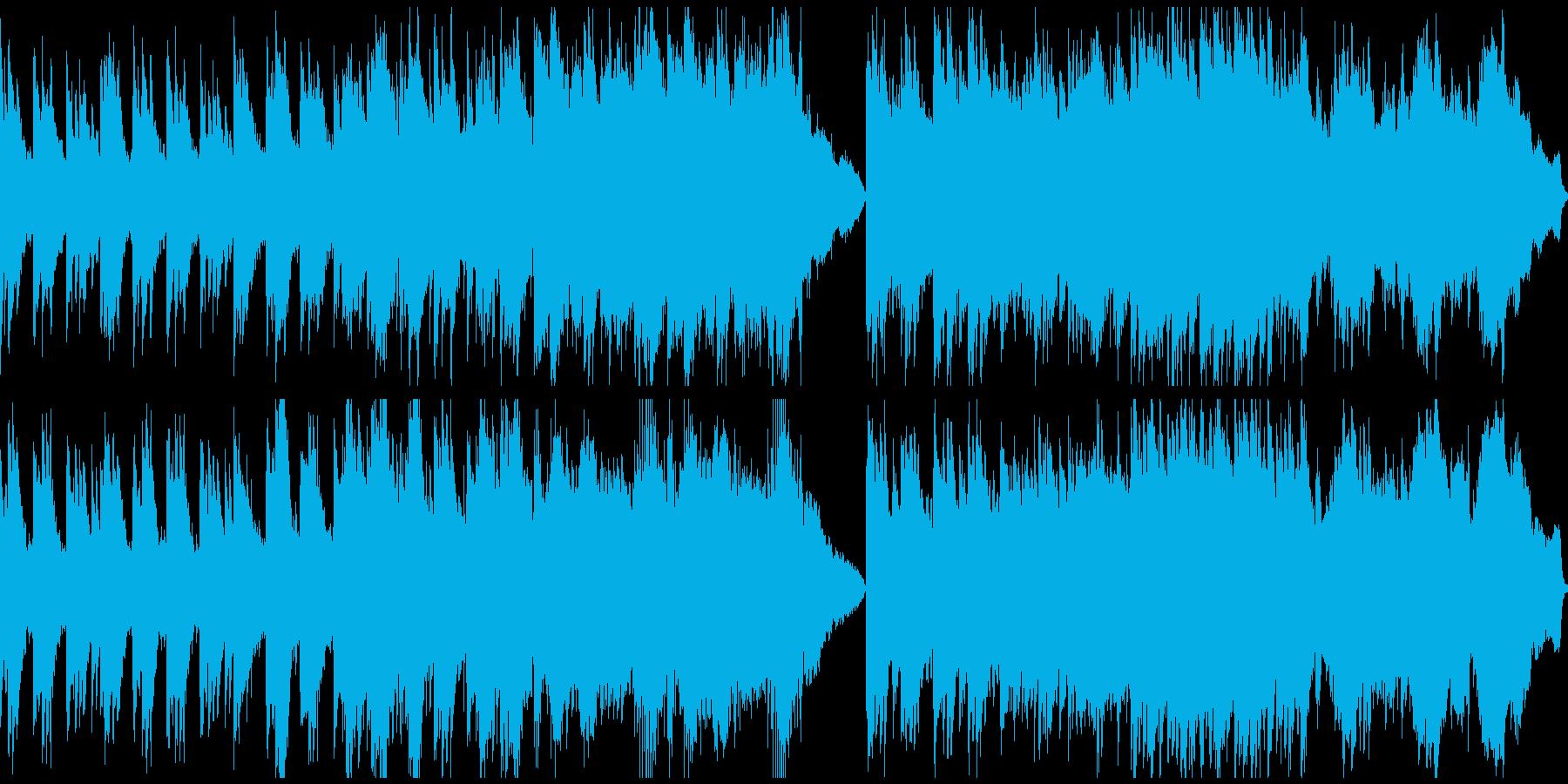 静謐な和風曲(ループ)の再生済みの波形