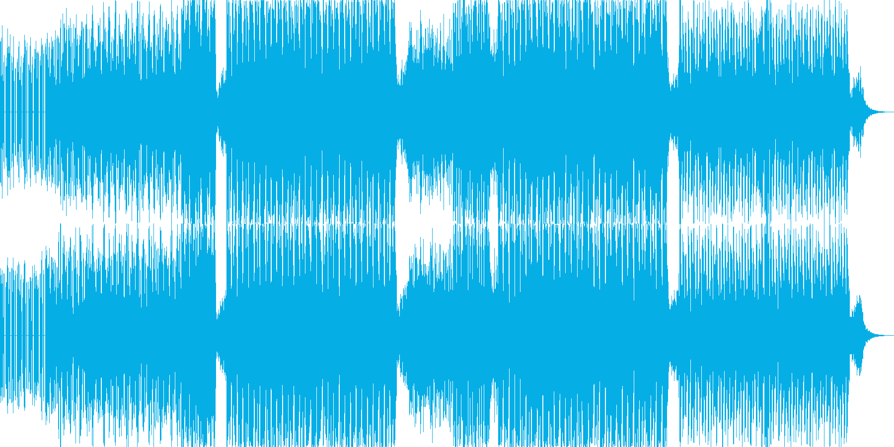 ベースの音が印象的で幻想的なテクノの再生済みの波形