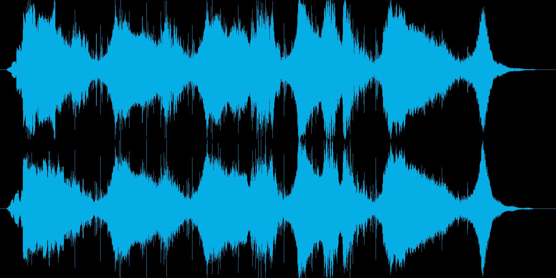 ミステリアスな雰囲気のアンビエントの再生済みの波形