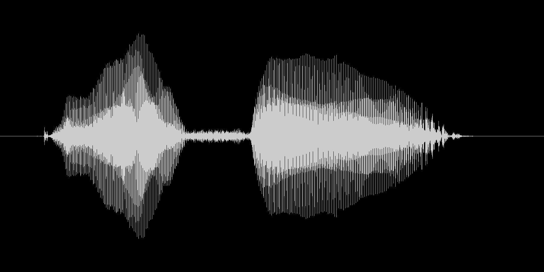 パスぅの未再生の波形