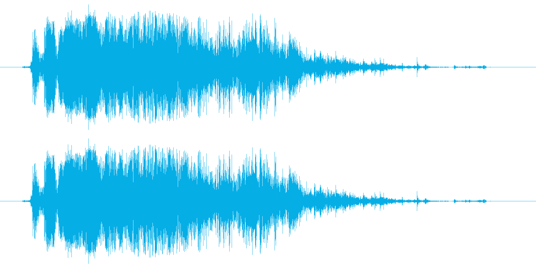 氷 沢山の氷がガシャンと鳴る音の再生済みの波形