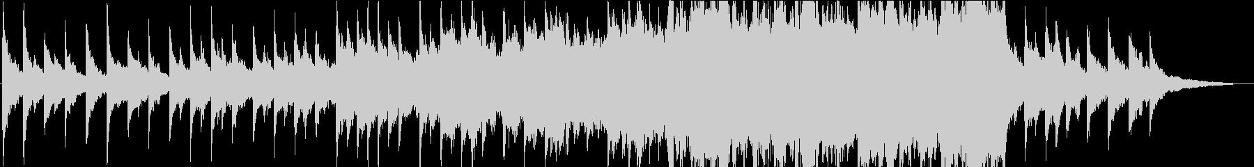 徐々に盛り上がる切ないオーケストラ曲の未再生の波形
