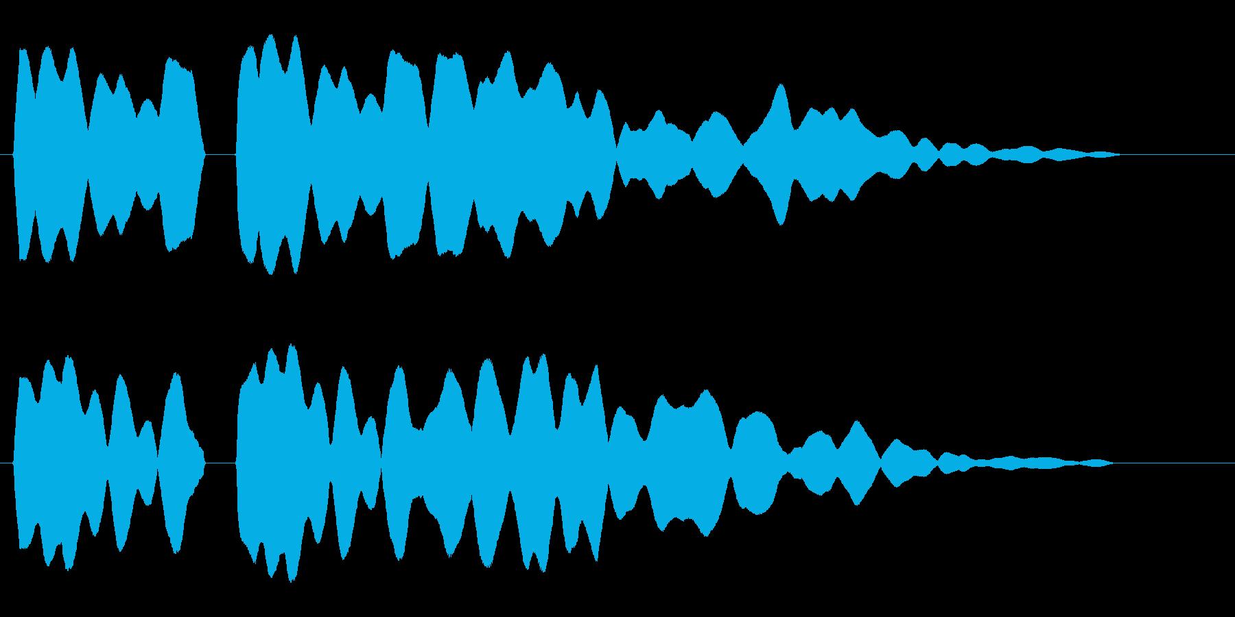 ピピーッ(高音のホイッスル音)の再生済みの波形