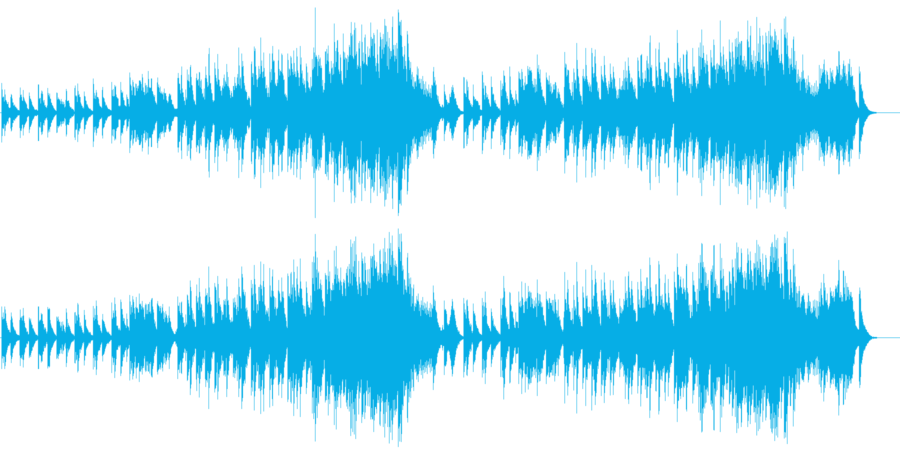 冷たいナチュラル・アンビエントの再生済みの波形