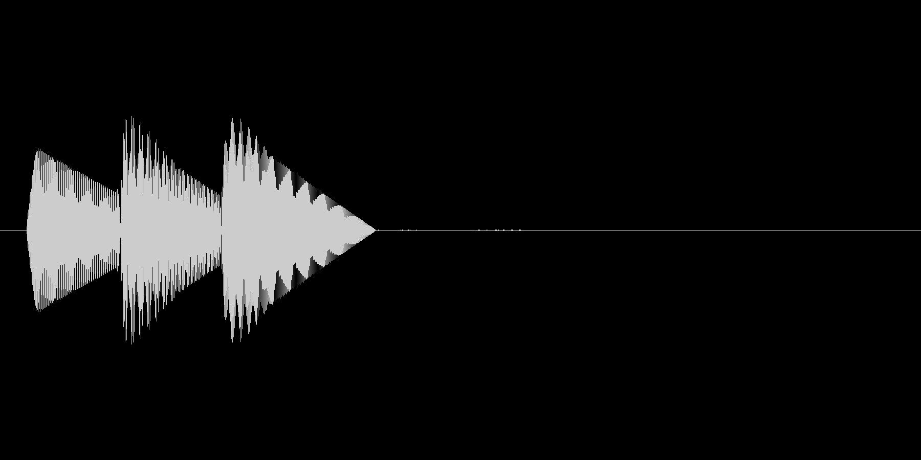 8bitのシステム音ピロン↑低音の未再生の波形