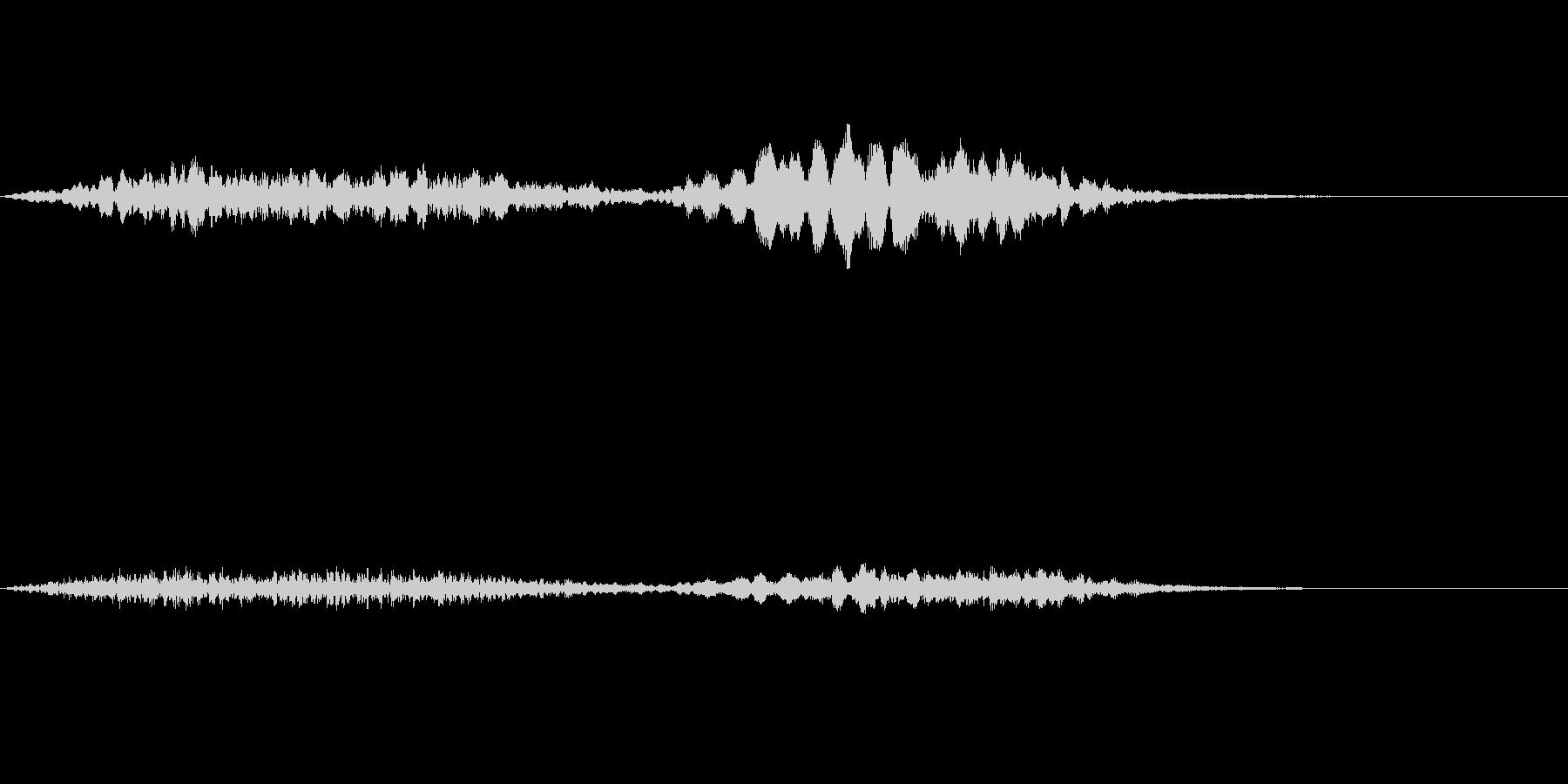 ホラー音06の未再生の波形