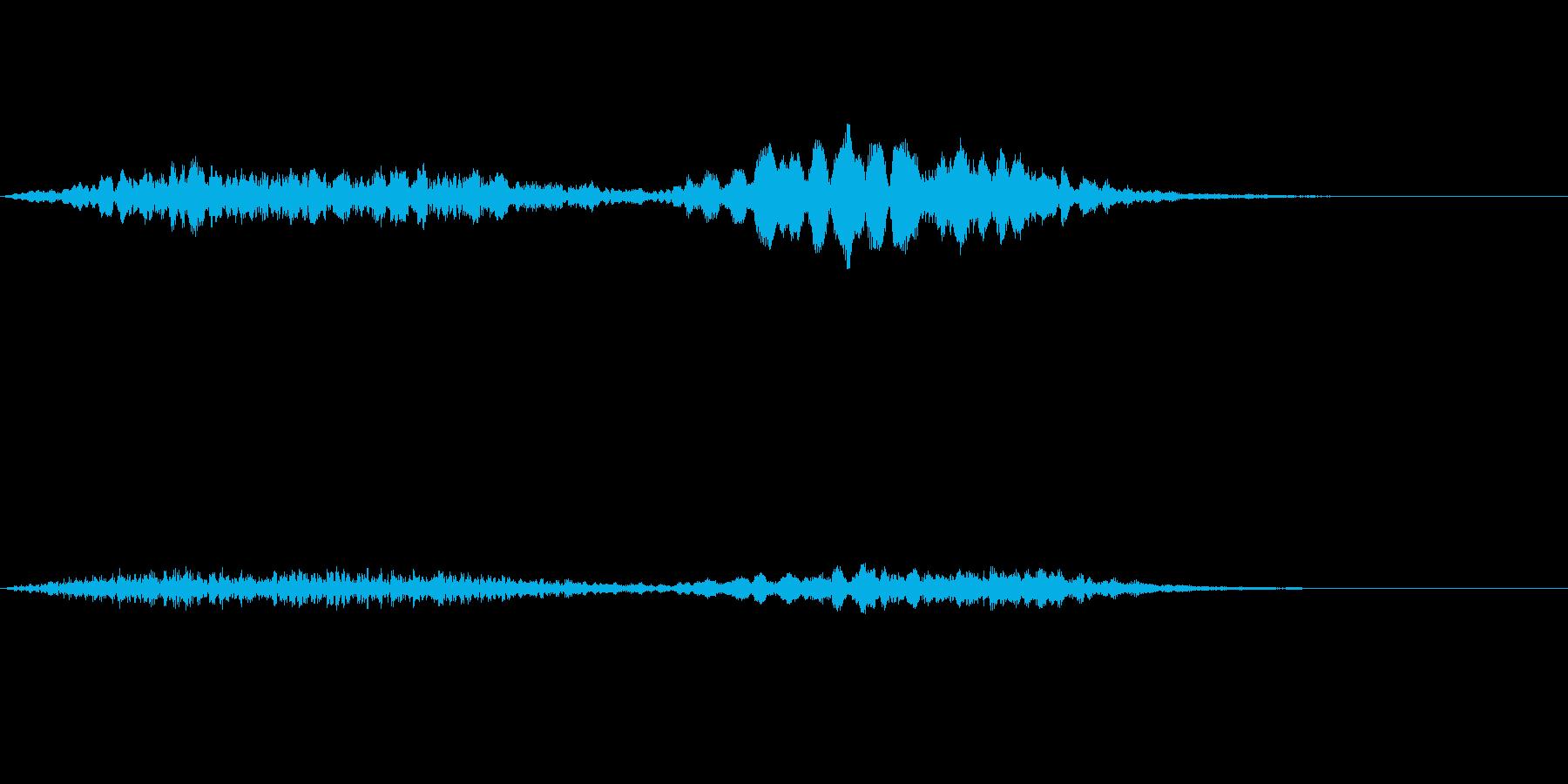 ホラー音06の再生済みの波形
