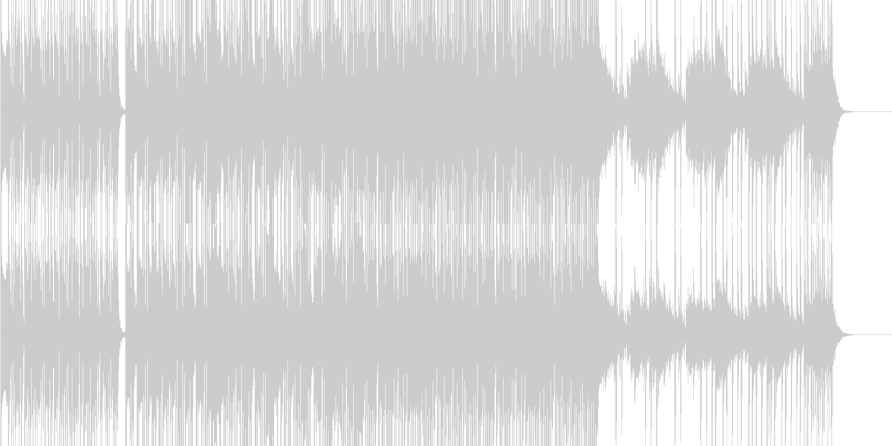 疾走感のあるジャズの未再生の波形