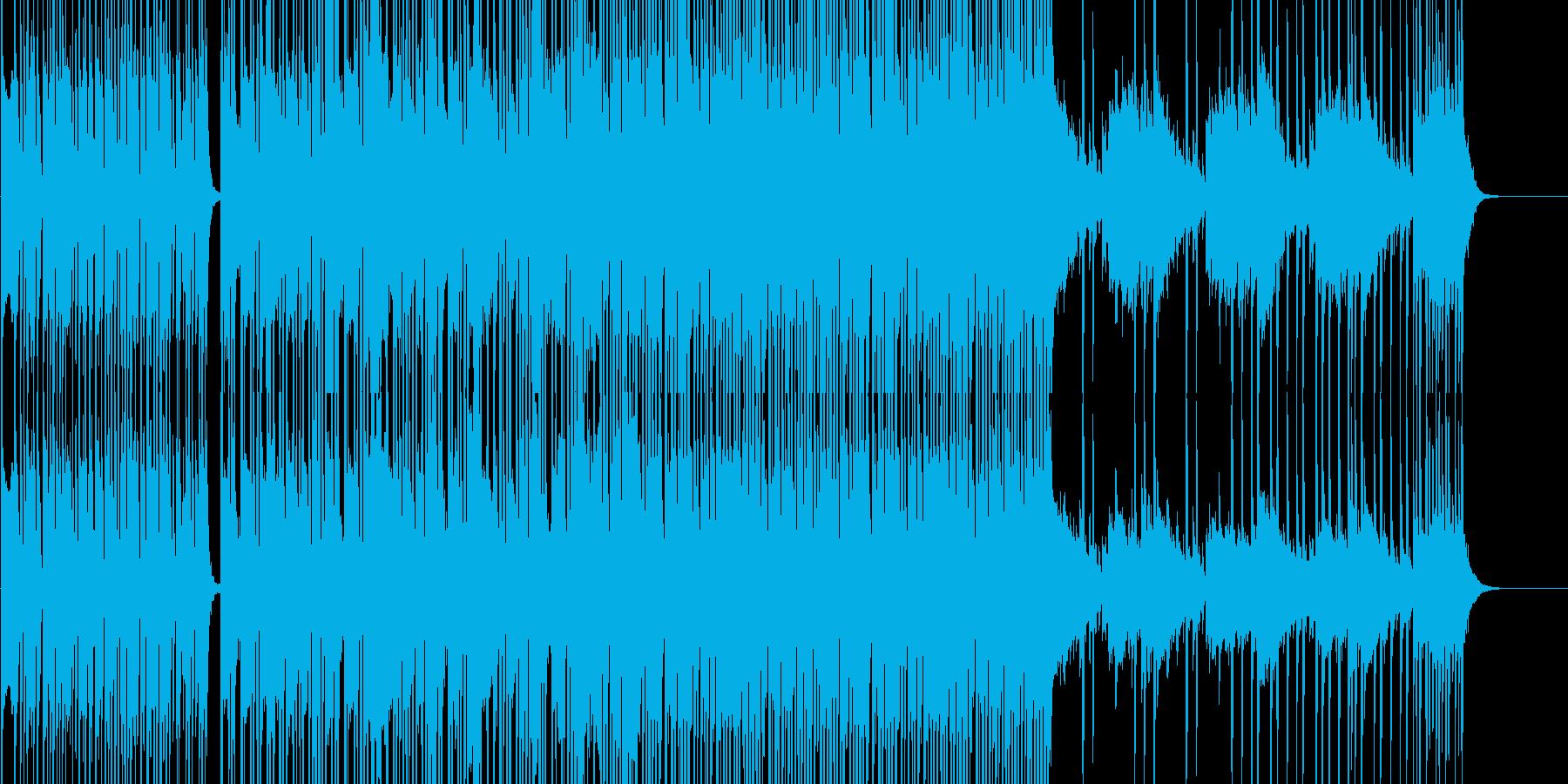 疾走感のあるジャズの再生済みの波形