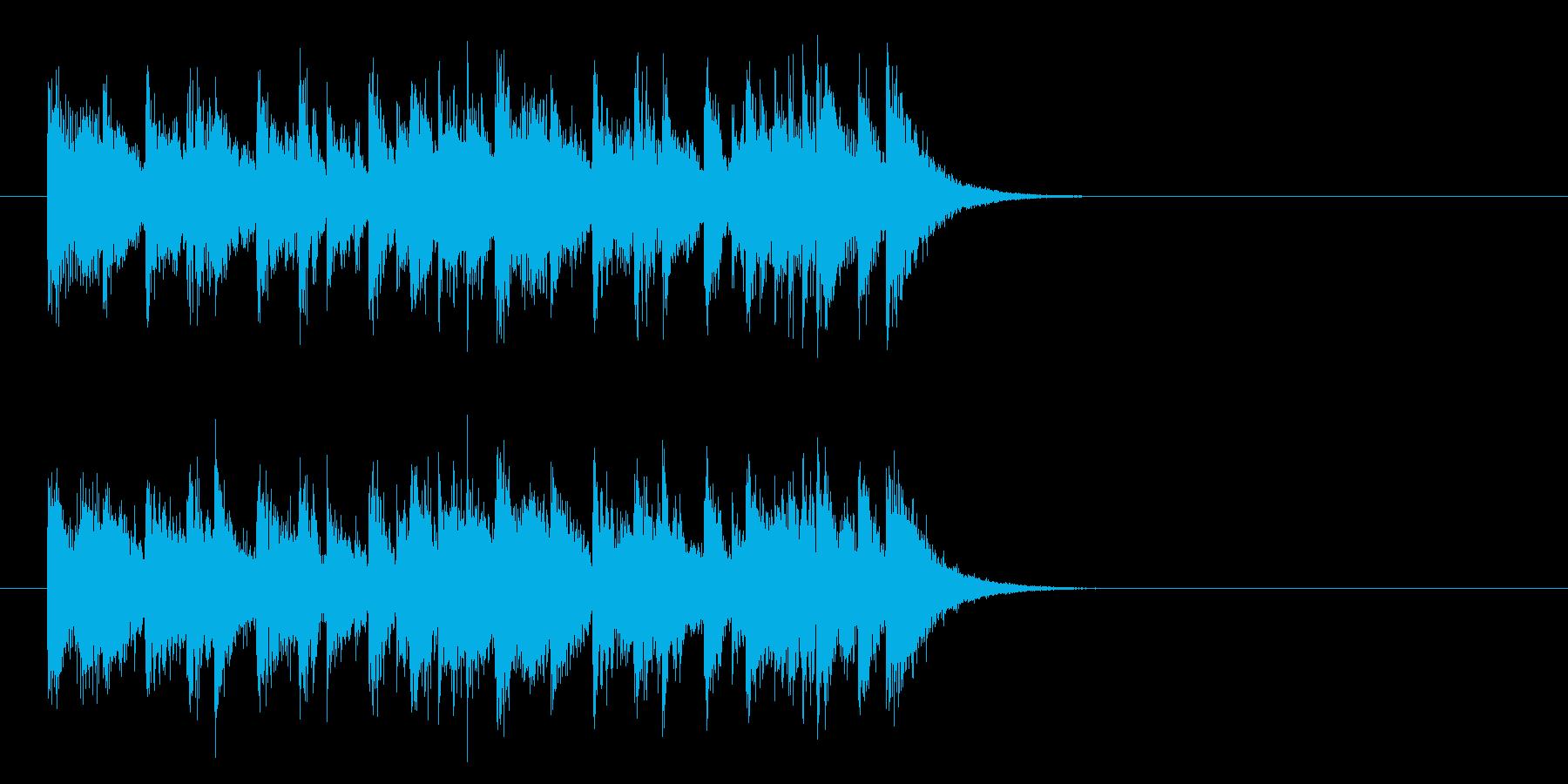 ジングル(元気一発)の再生済みの波形
