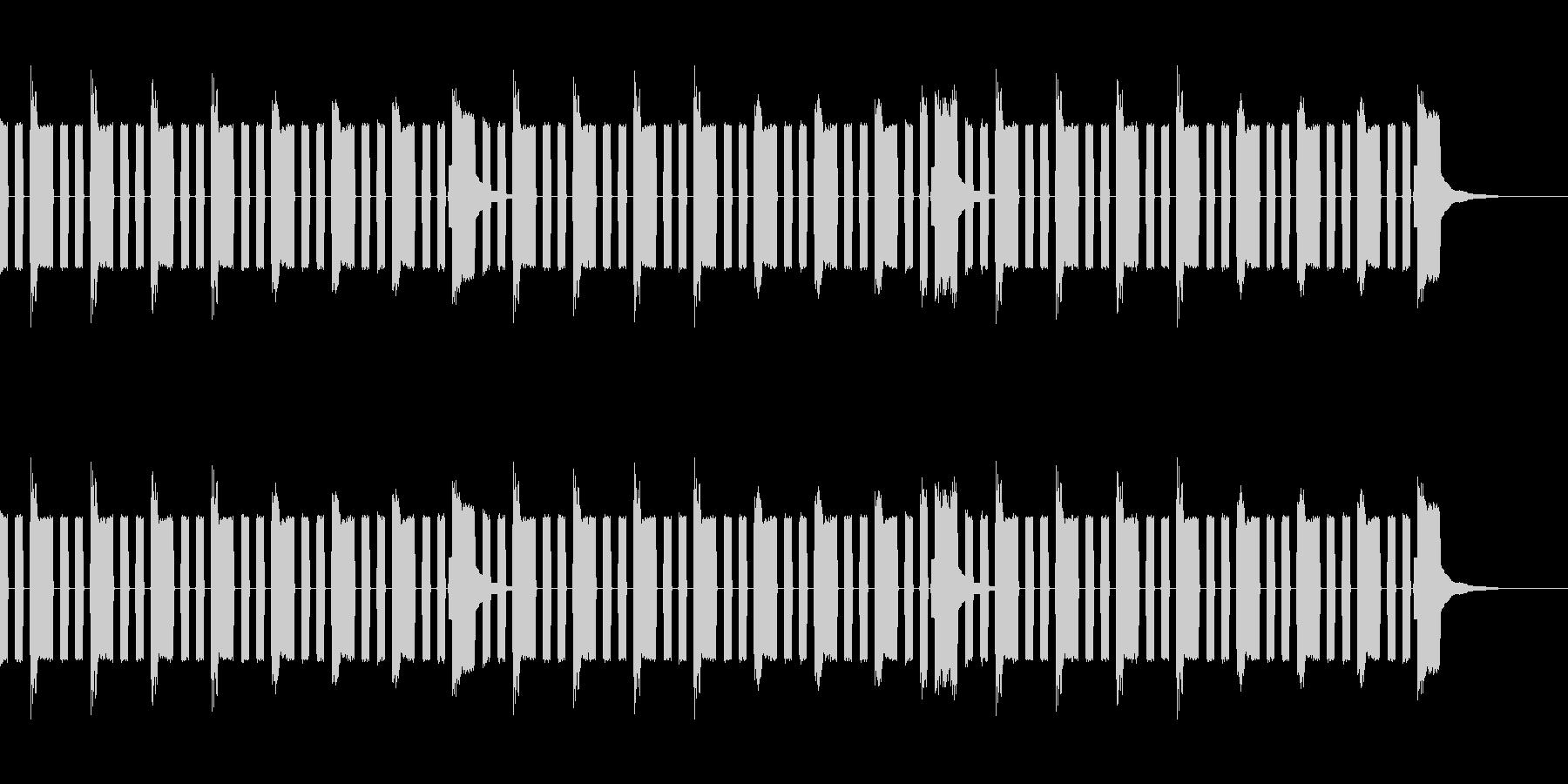 チップチューン風ループの未再生の波形
