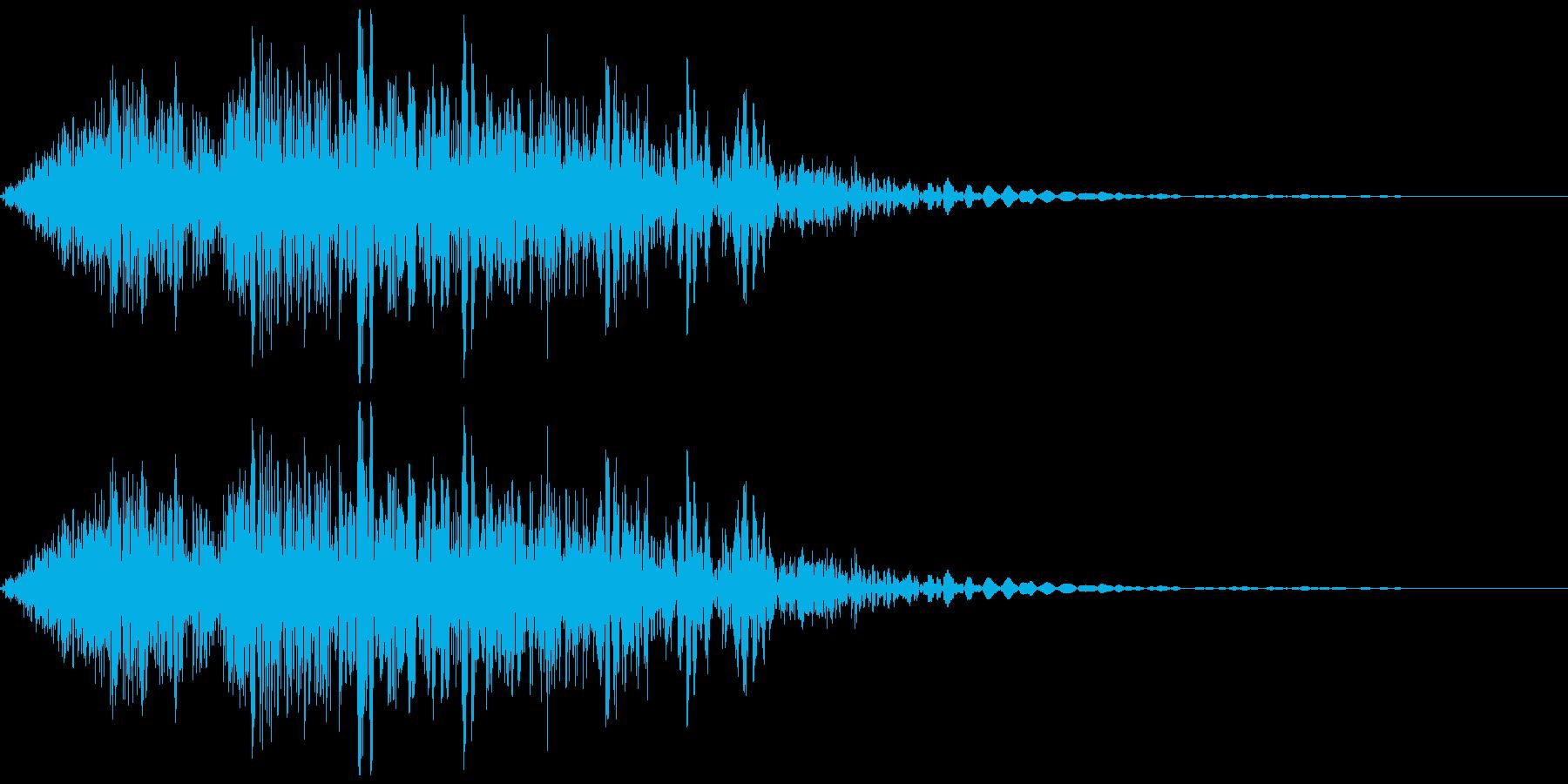 アニメ風メカの歩く音/メカの挙動音の再生済みの波形