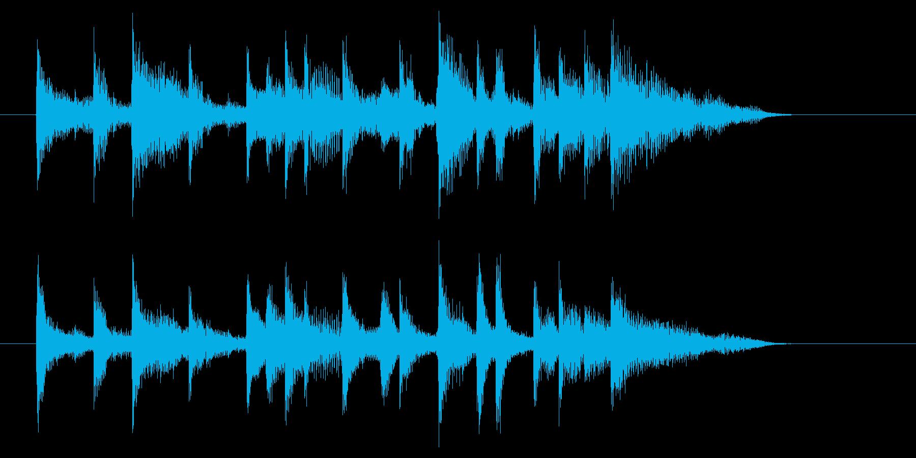 スローなストリングスミュージックの再生済みの波形