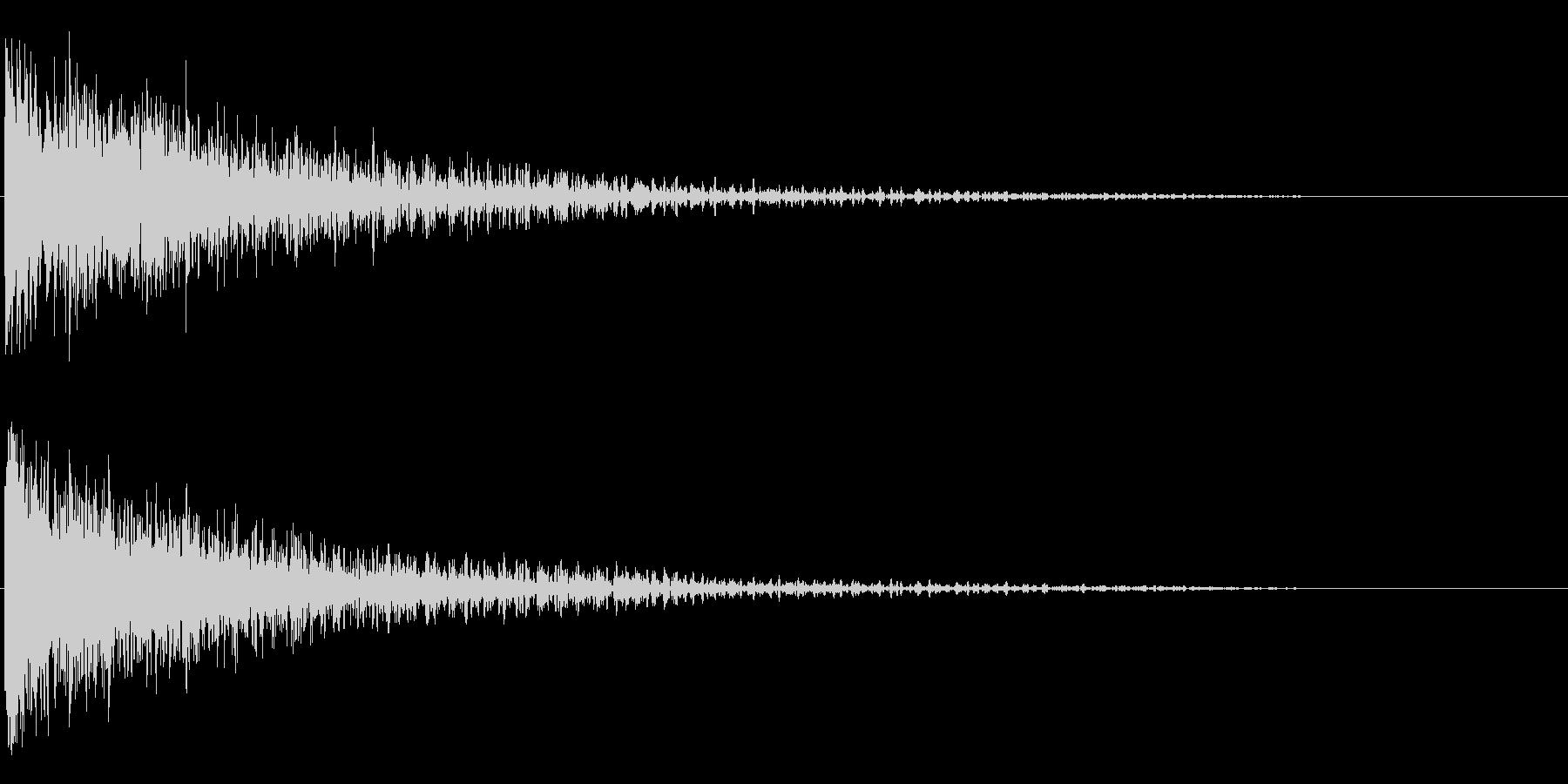 ドン!/インパクト系/シンセサイザーの未再生の波形