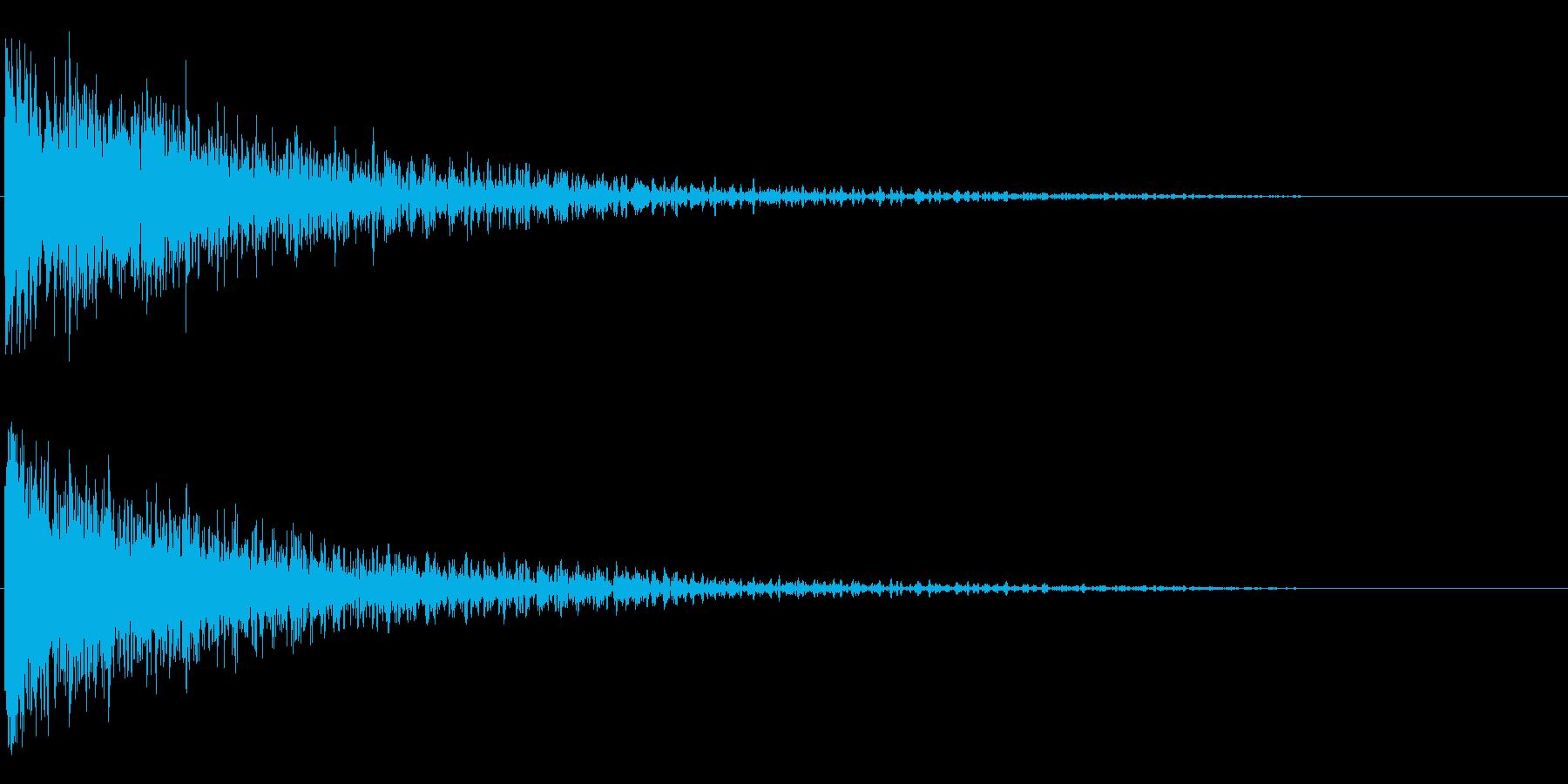 ドン!/インパクト系/シンセサイザーの再生済みの波形