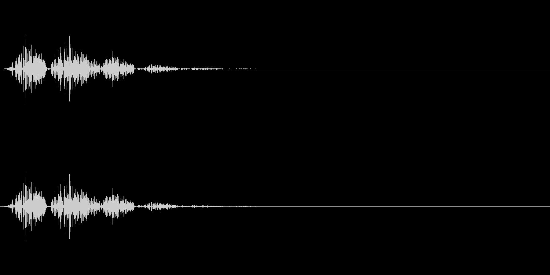 シュッ:ゲームの小ジャンプの未再生の波形