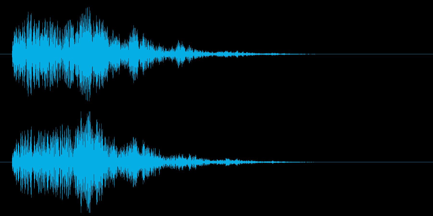 登場音(あやしげ、不気味)の再生済みの波形