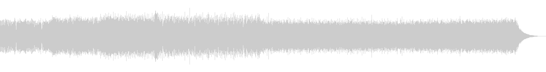 ピアノの旋律が美しいEDMの未再生の波形