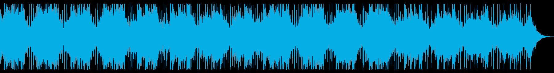 ダークでミステリアスな背景 コーラス入りの再生済みの波形
