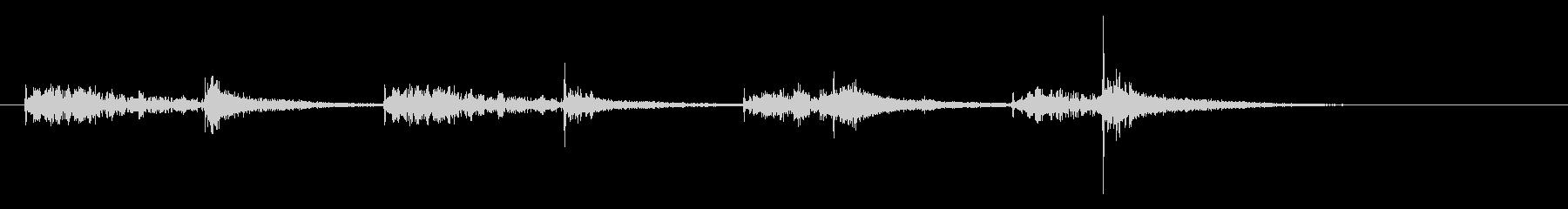 和太鼓のお囃子風サウンドロゴの未再生の波形