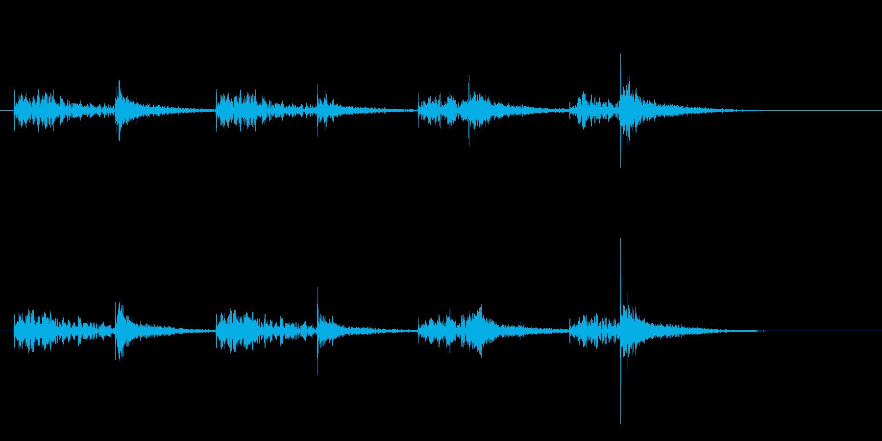 和太鼓のお囃子風サウンドロゴの再生済みの波形
