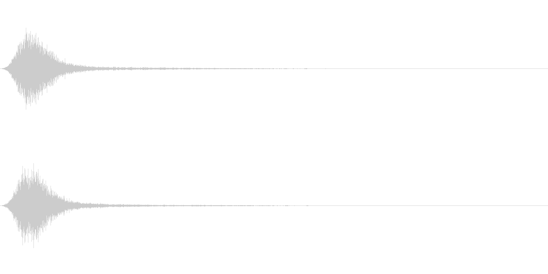 Ninjya 忍者 クナイ攻撃SE 12の未再生の波形