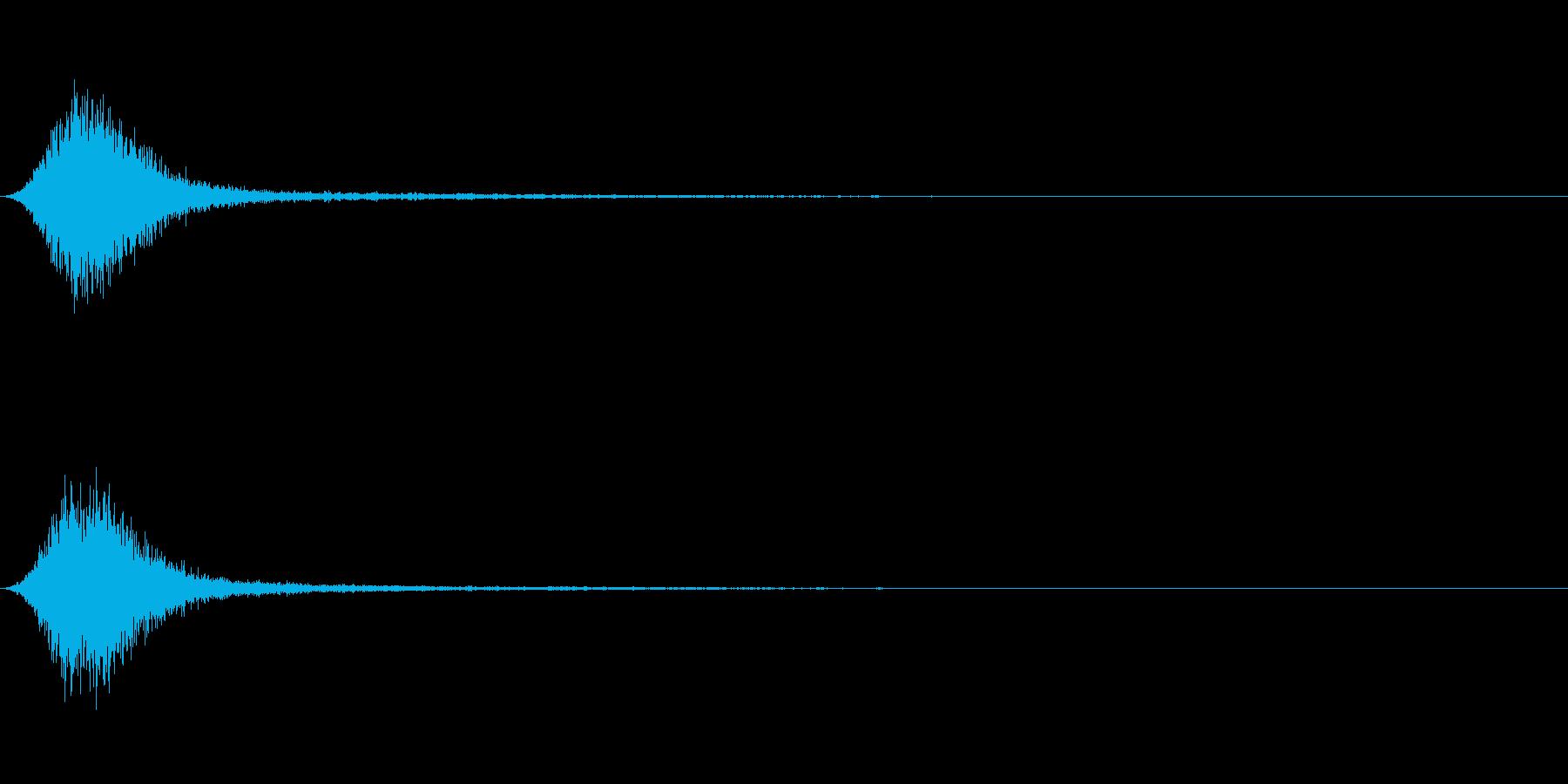 Ninjya 忍者 クナイ攻撃SE 12の再生済みの波形
