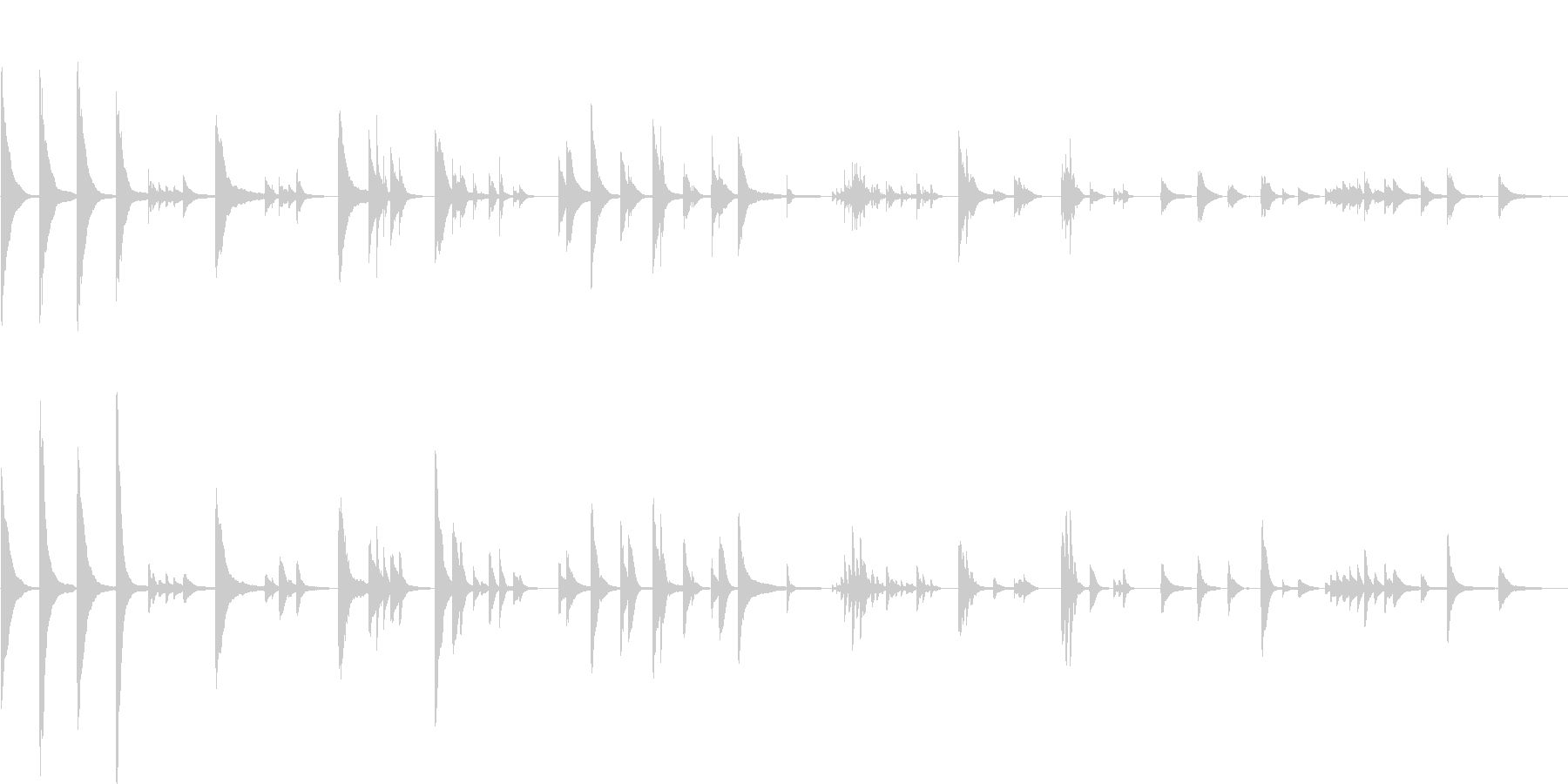 ピアノの柔らかい音色のバラードの未再生の波形