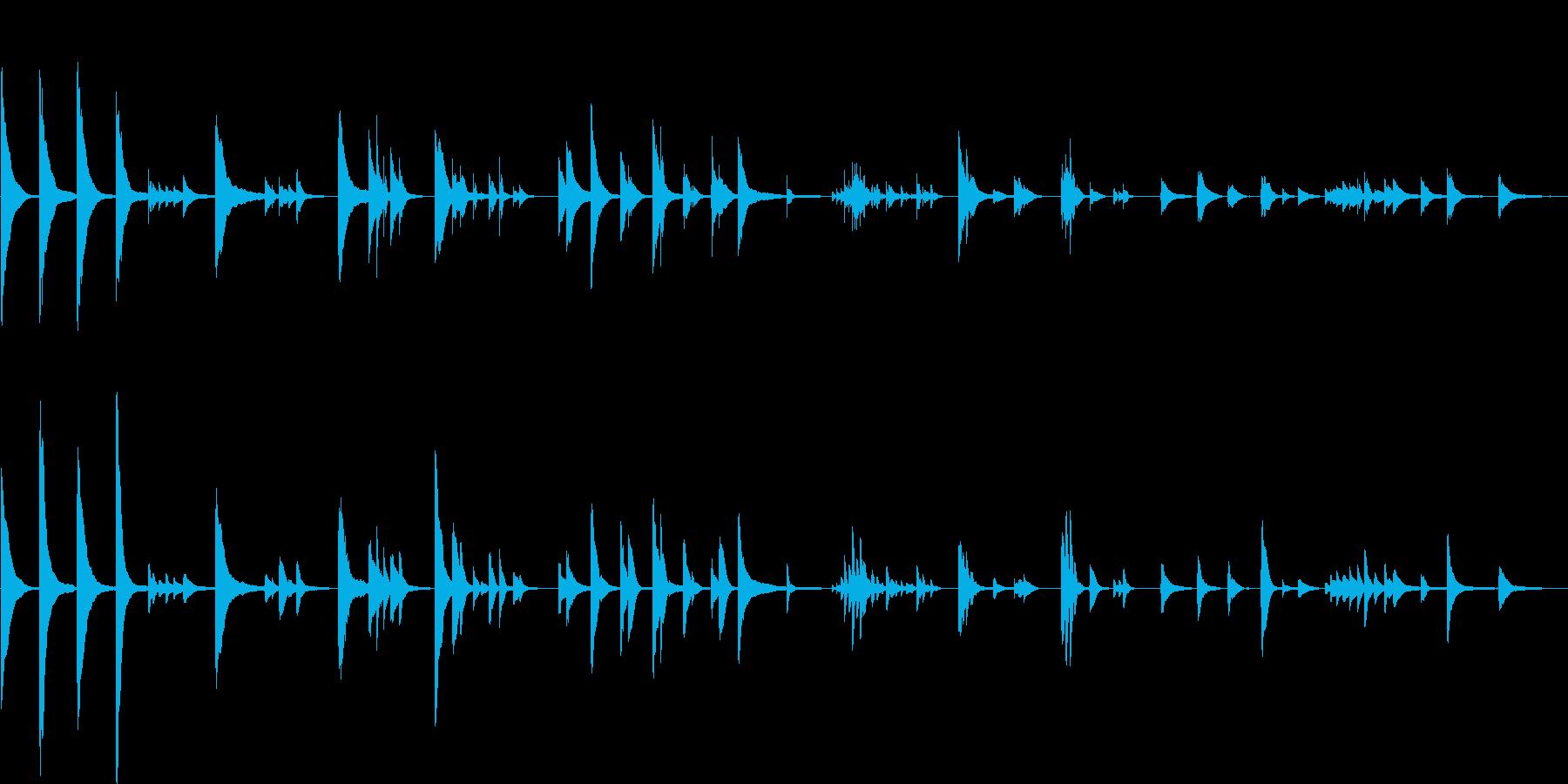 ピアノの柔らかい音色のバラードの再生済みの波形