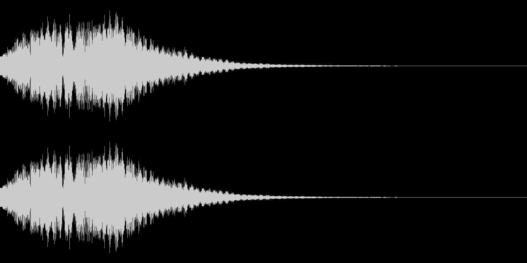 ベルを使ったアラーム音の未再生の波形