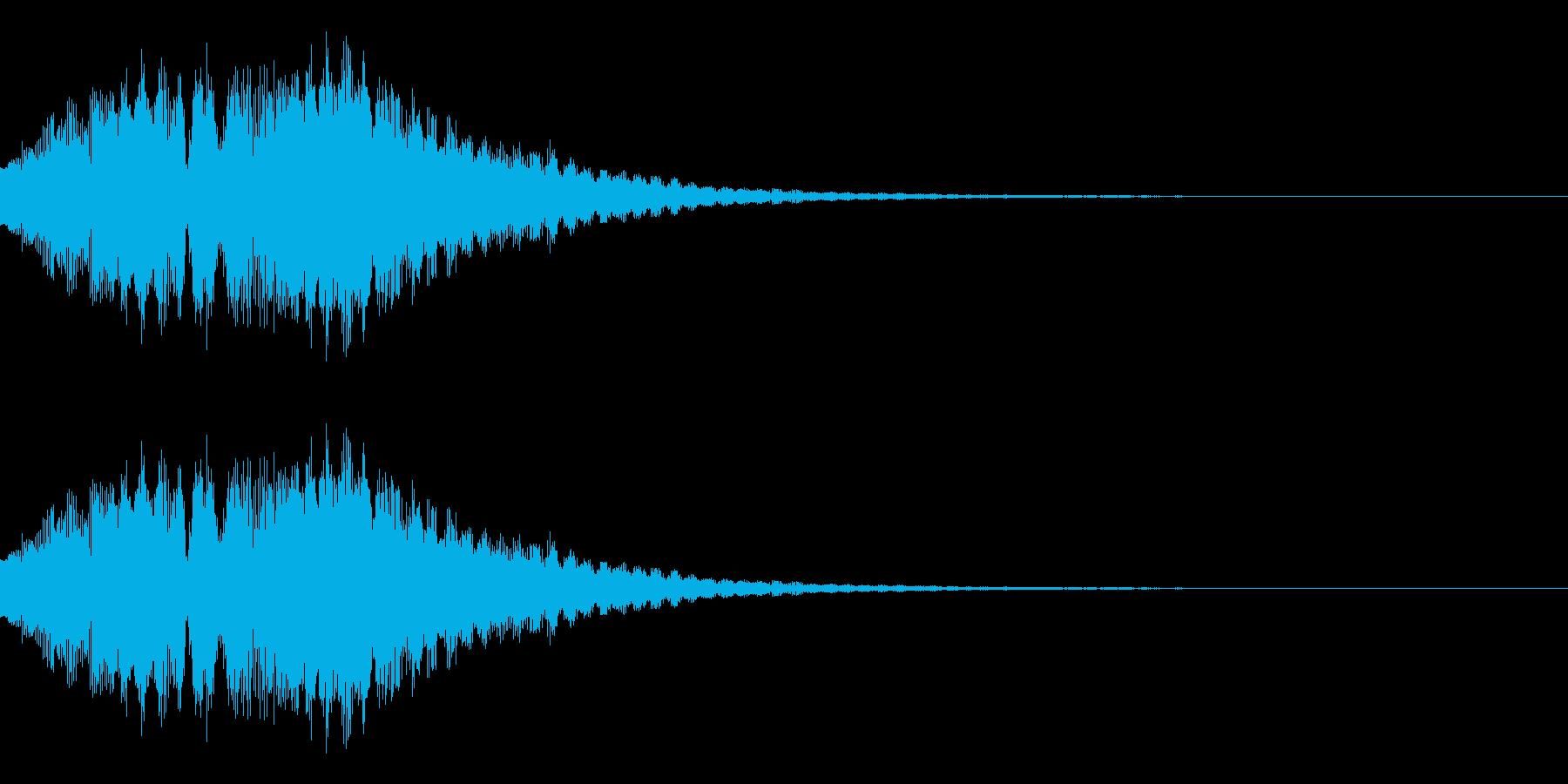 ベルを使ったアラーム音の再生済みの波形